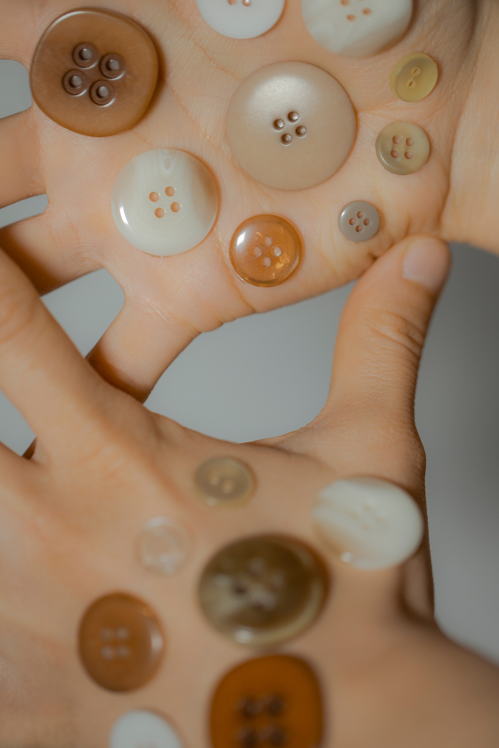 """Ness Rubey's photo series """"Button"""""""